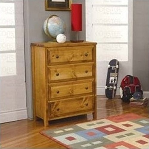 Bowery Hill 4 Drawer Dresser in Amber - Amber Dresser