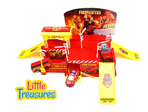 Little Treasures Toy, Firefighting City Fire Station