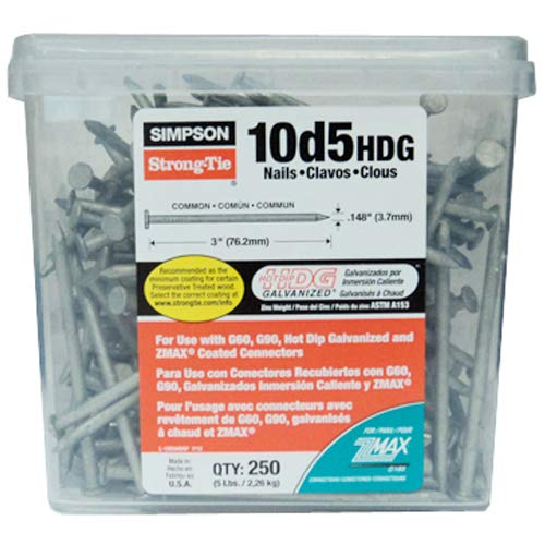 Simpson Strong Tie 10D5HDG Structural Connector 3-Inch by .148-Inch 9-Gauge Smooth Shank Hot-Dip Galvanized Nails by Simpson Strong-Tie