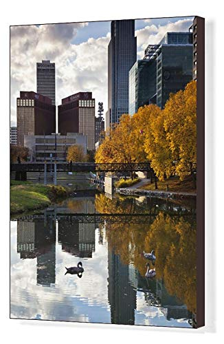 Media Storehouse 20x16 Canvas Print of Omaha, Nebraska, City View ()