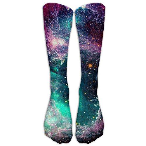 Soccer Clipart (Universe Galaxy Compression Socks Soccer Socks Knee High Socks For Running,Medical,Athletic,Edema,Diabetic,Varicose Veins,Travel,Pregnancy,Shin Splints,Nursing.)
