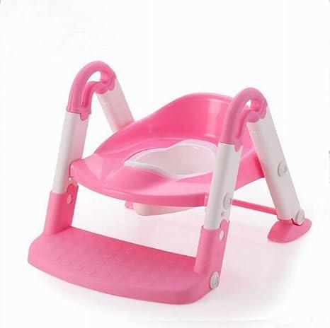 3 en 1 bebé orinal formación escalera asiento herramienta de paso, de asiento de inodoro para niños y niños pequeños rosa rosa: Amazon.es: Bebé