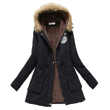 Amazon.com: Chaqueta de invierno con capucha militar para ...