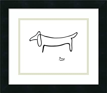 Amazon.com: Framed Art Print \'Le Chien (The Dog)\' by Pablo Picasso ...