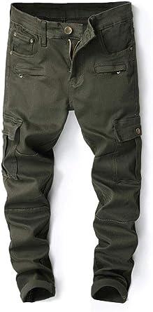 Slim Fit Stretch Men/'s Jeans Olive