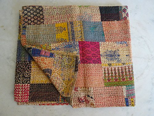 Tribal Asian Textiles Patchwork Arrival 2015 Vintage Cotton Rajasthani Handmade Kantha Stitched Reversible Quilt/blanket/gudari/throw