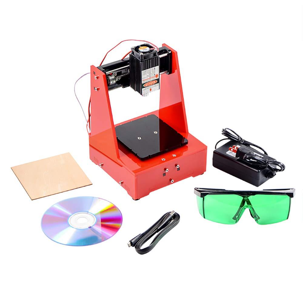 Laser Engraver Printer Machine, 1000mW Portable Art Craft DIY Mini Laser Engraving Printing Working Area 68 x 68 mm