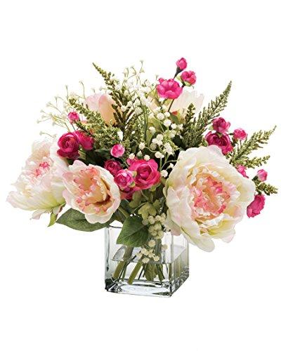 Peony & Ranunculus Silk Flower Arrangement -