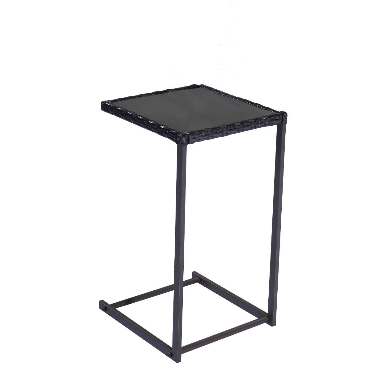 2Pcs Patio Rattan Side Table Stand for outdoor living space