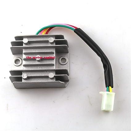 Amazon com: Fincos 4 Wires Voltage Regulator Rectifier Motorcycle
