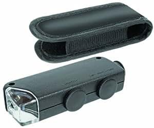 Bresser 6933500 - Microscopio de bolsillo (zoom óptico de 100x,) negro