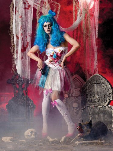 Zombie Candy Girl Katy Perry Undead Fancy Dress Women Gothic Halloween Costume S (Katy Perry Candy)