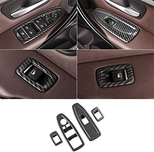 Gaoominy For 1 3 4 Series 3GT F20 F30 F31 F32 F34 F36 Window Glass Lift Button Decoration ABS Carbon Fiber Panel Decoration