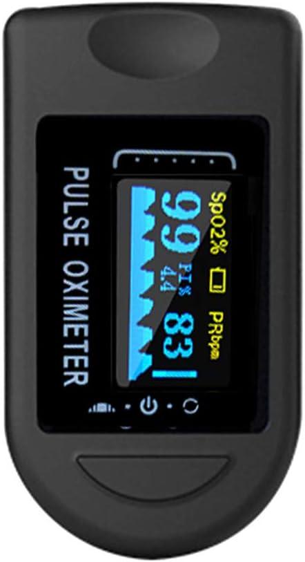 Baugger Medidor de dedo digital Oxímetro de pulso Pantalla OLED Medidor de medición del sensor de oxígeno en sangre para el amante de los deportes domésticos