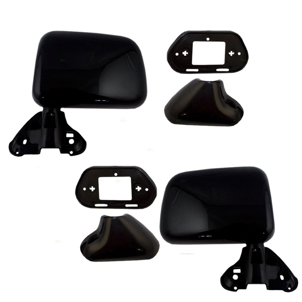 Driver and Passenger Manual Side View Mirrors Door Skin Mounted Replacement for Toyota Pickup Truck with Vent Window 8794089141 8791089143