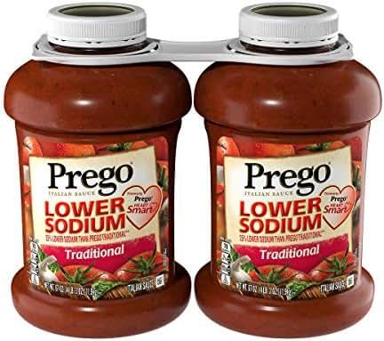 Pasta Sauce: Prego Lower Sodium