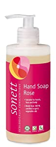 Sonett Organic Hand Soap Citrus, Lavender, Sensitive, Calendula, Rose and Foam Soap, 1 Count and 6 Count (Rose, 1 Count)