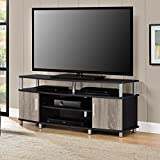 Adjustable Shelves Contemporary Style 50'' TV Stand, Black/Sonoma