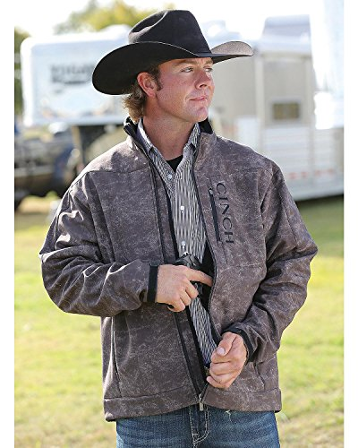 Cinch Men's Bonded Softshell Jacket With Concealed Carry Pockets, Marled Brown, Medium by Cinch