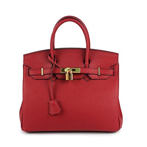 AASSDDFF Box vin main Sacs de Femmes à Crossbody Designer Véritable Lock Sacs luxe Sacs Dames rouge30x17x23cm Pour Top Tote Femmes Femelle Hand Faux Bag SSqwxB45r