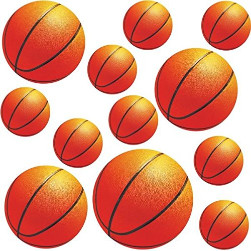 Amscan Basketball Dream Birthday Party Assorted Wall Cutouts Decoration, 12 Pieces, Made from Paper, Basketball Themed Party/ Sports Themed Party, by (Decorations Assorted)