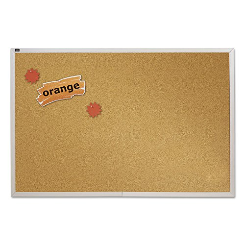 (Quartet ECKA406 Natural Cork Bulletin Board 72 x 48 Anodized Aluminum Frame)