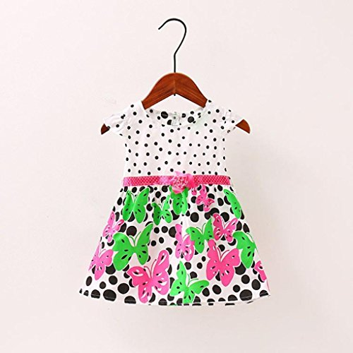Amazon.com: ShiTou Girls Dress&&Girls Dot Butterfly Print Flower Casual Dress Clothes (Hot Pink, 4XL): Clothing