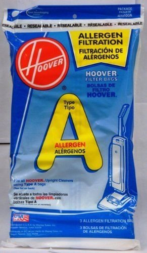 Hoover 4010001A Type A Vacuum Bags, 9 Bags (4010001a Hoover)