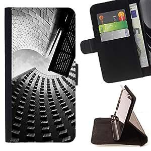 BullDog Case - FOR/Samsung Galaxy S4 Mini i9190 / - / Architecture Street & Buildings /- Monedero de cuero de la PU Llevar cubierta de la caja con el ID Credit Card Slots Flip funda de cuer