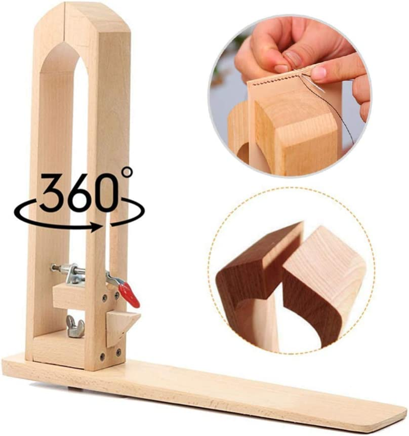 360° Rotation Wood Leather Stitching Pony Sewing Horse Table Lacing Desktop for DIY Hand Stitching Leather Craft Tools