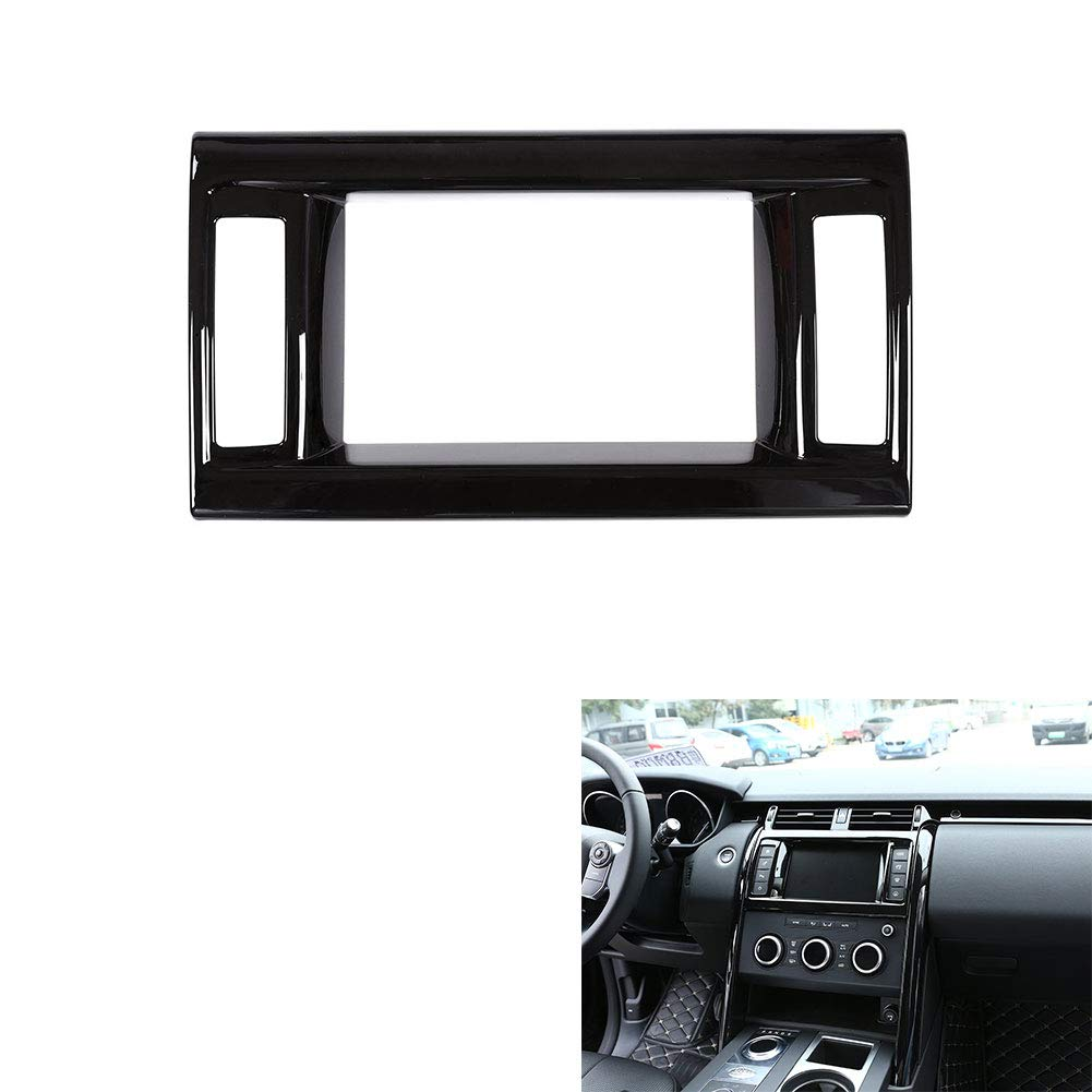 for Land Rover Discovery 5 Center Navigation Panel lid Trim, ABS Piano Black car Interior Modification Accessories
