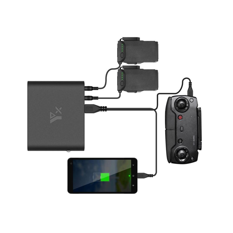 Coohole Power Bank 3.7V 25000mAh Quick Charge Portable Charging Set For DJI Mavic AIR RC (Black)