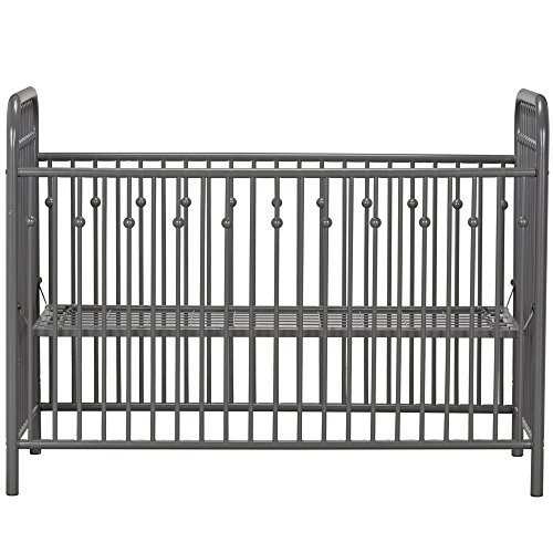 51KlVDc438L - Little Seeds Monarch Hill Ivy Metal Crib, Gray