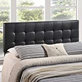 Modway Lily Tufted Headboard Full Black Leatherette