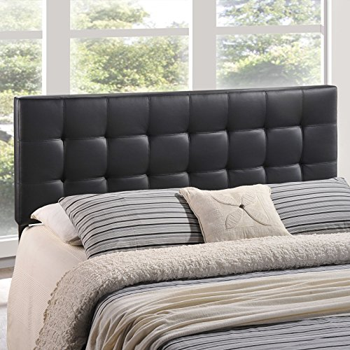 Modway Lily Upholstered Tufted Vinyl Headboard Full Size In Black