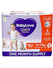 BabyLove Cosifit Nappies, Size 5 (12-17kg) One Month Supply (3 packs of 54, 162 nappies total)