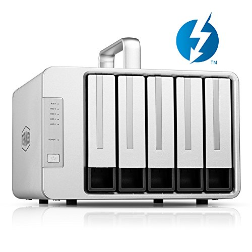 TerraMaster D5 Thunderbolt3 and USB Type C 5-Bay External Hard Drive Enclosure Supports RAID5 Hard Disk RAID Storage (Diskless) by TerraMaster