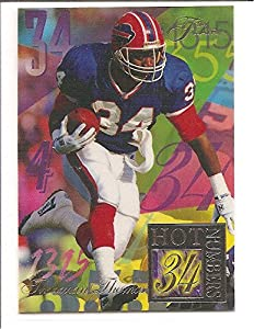 Thurman Thomas Buffalo Bills 1994 Flair Hot Numbers Football Card #14