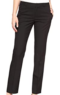 b613e9eab6a Banana Republic Women s Ryan Slim Fit Classic Slim Straight Pants Black
