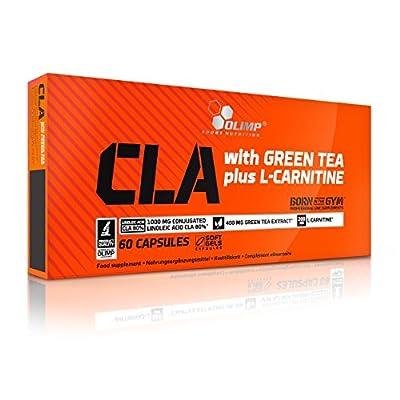 OLimp L-carnitine capsules + green tea 60 caps CLA 1000mg fat burner tablets weight loss pills by CLA