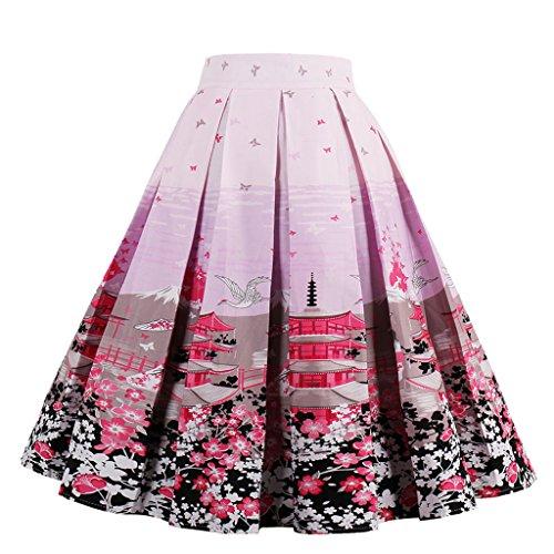 Femmes Dot Complet De Soire Rockabilly Floral Jupes Polka Jupe Annes Coton Cercle Inspir Vintage VERNASSA Multicolore 50 Robe xdZw7td