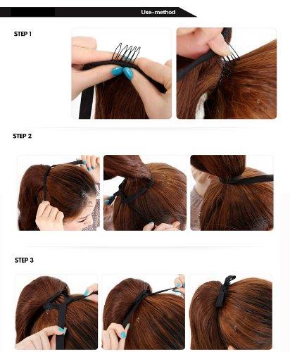 Uniwigs Fashionable 50cm Natural Straight Wrap-around Ponytail Dark Brown Tbe0047