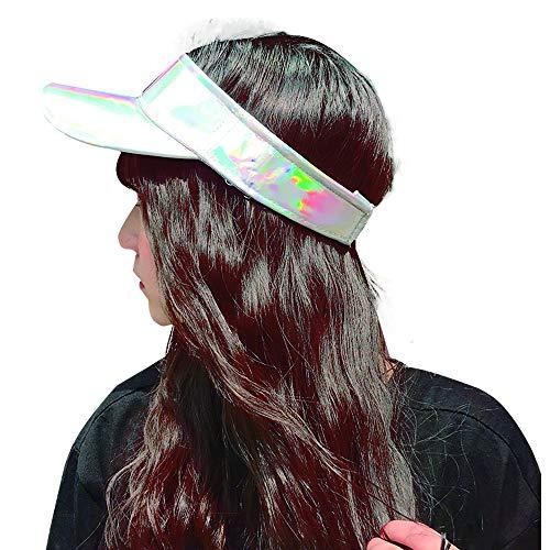 Women Sun Visor Caps Party Bling Sun Visor Ball Cap Visors Hat for Golf Tennis Running Silver
