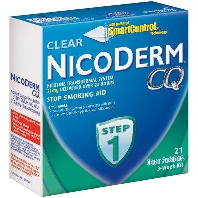 NicoDerm CQ Step 1 21mg, 21 Clear Patches