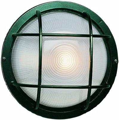 Trans Globe Lighting 10-Inch 1-Light Outdoor Large Round Bulkhead