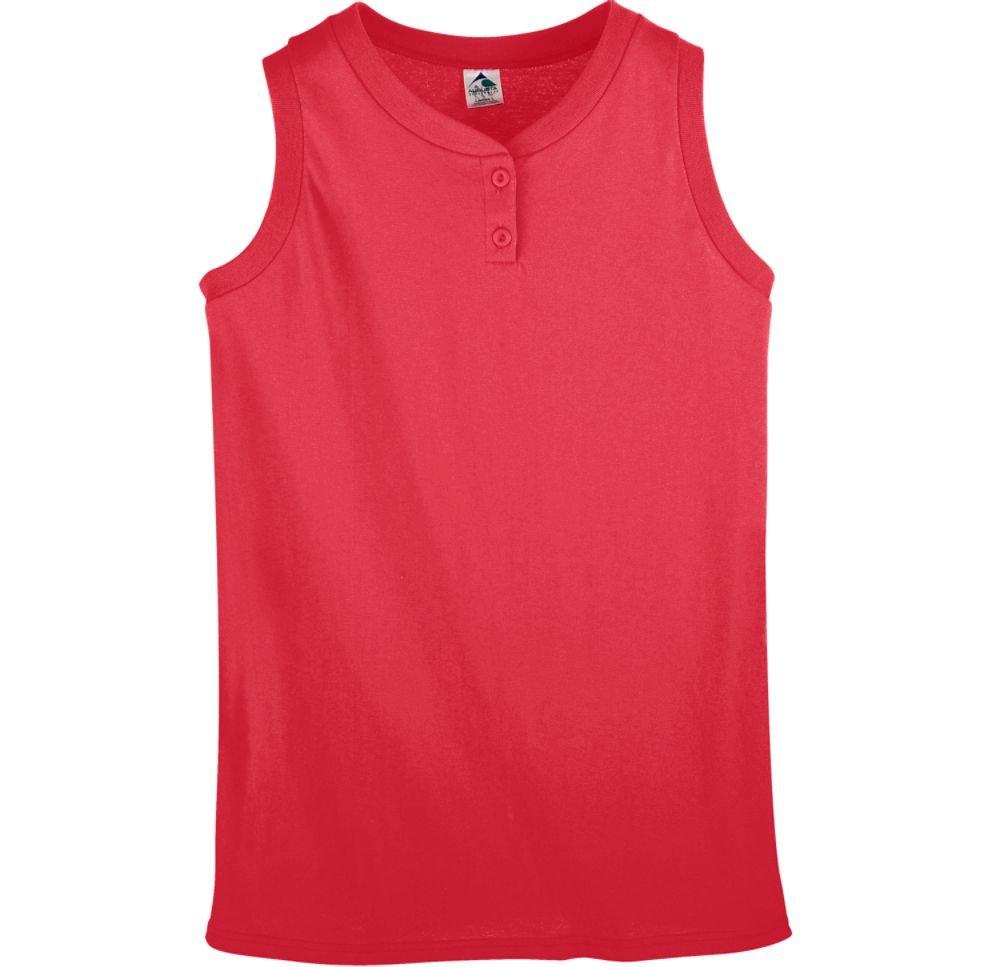 Augusta Sportswear Girls Sleeveless Two-Button Softball Jersey