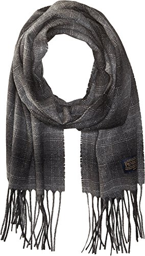 Pendleton Unisex Park Plaid Whisperwool Muffler Charcoal Grey Plaid Scarf