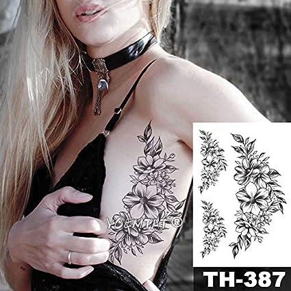 HXMAN 5 Unids Joyería Diamante Rosa Impermeable Tatuaje Temporal ...