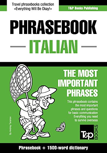 English-Italian phrasebook and 1500-word dictionary...