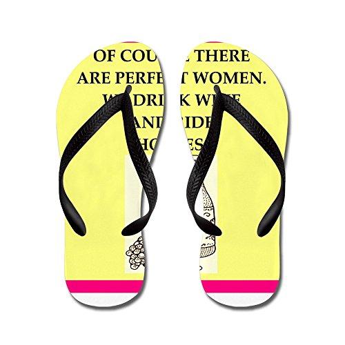 CafePress Equestrian - Flip Flops, Funny Thong Sandals, Beach Sandals Black